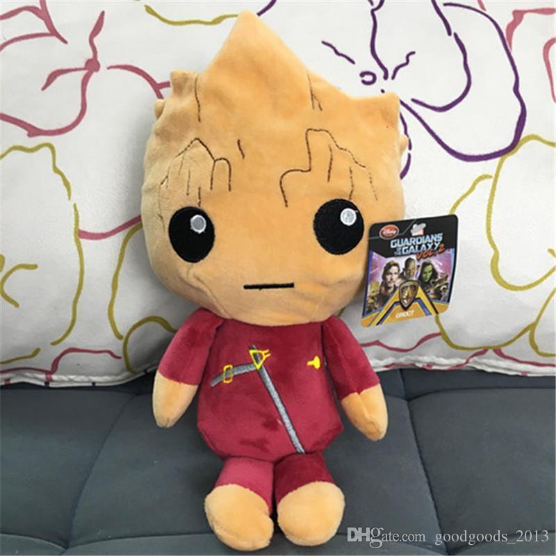 Wächter der Galaxie-Plüsch spielt Karikatur Groot Treeman Waschbär-angefüllte Tierfilm-Puppen-Baby-Spielzeuggeschenke 4 Entwürfe b1198