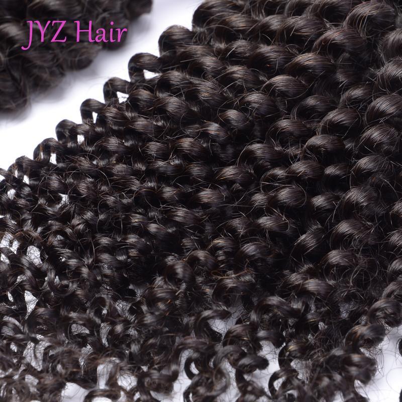 Бразильский Перуанский Индийский Малайзии Монгольской Kinky Вьющиеся Волосы Девственные 3 Пачки/Много Естественный Цвет Необработанные Человеческих Волос Weave Расширения