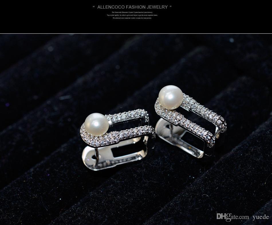VENTE argent sterling 925 aiguille creux sculpté boucles d'oreilles femme cristal de Swarovski tempérament simple anti-allergique