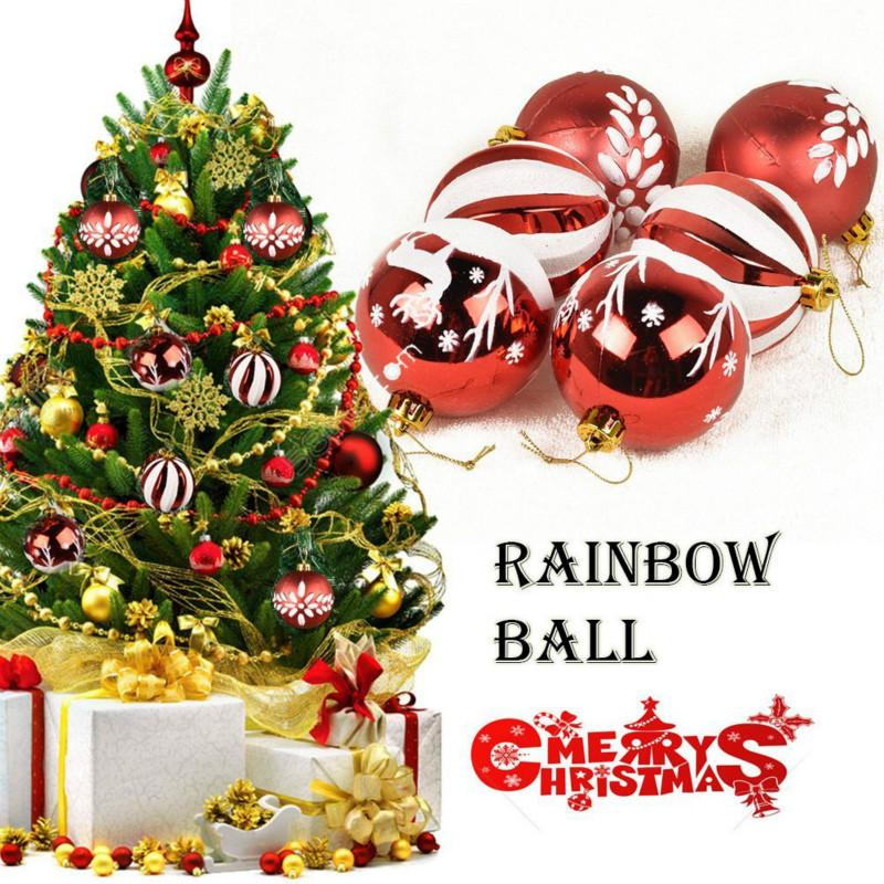 christmas ball ornament shatterproof for christmas tree parties festival decoration 315 rainbow ball xmas ornaments christmas outdoor decorations on sale