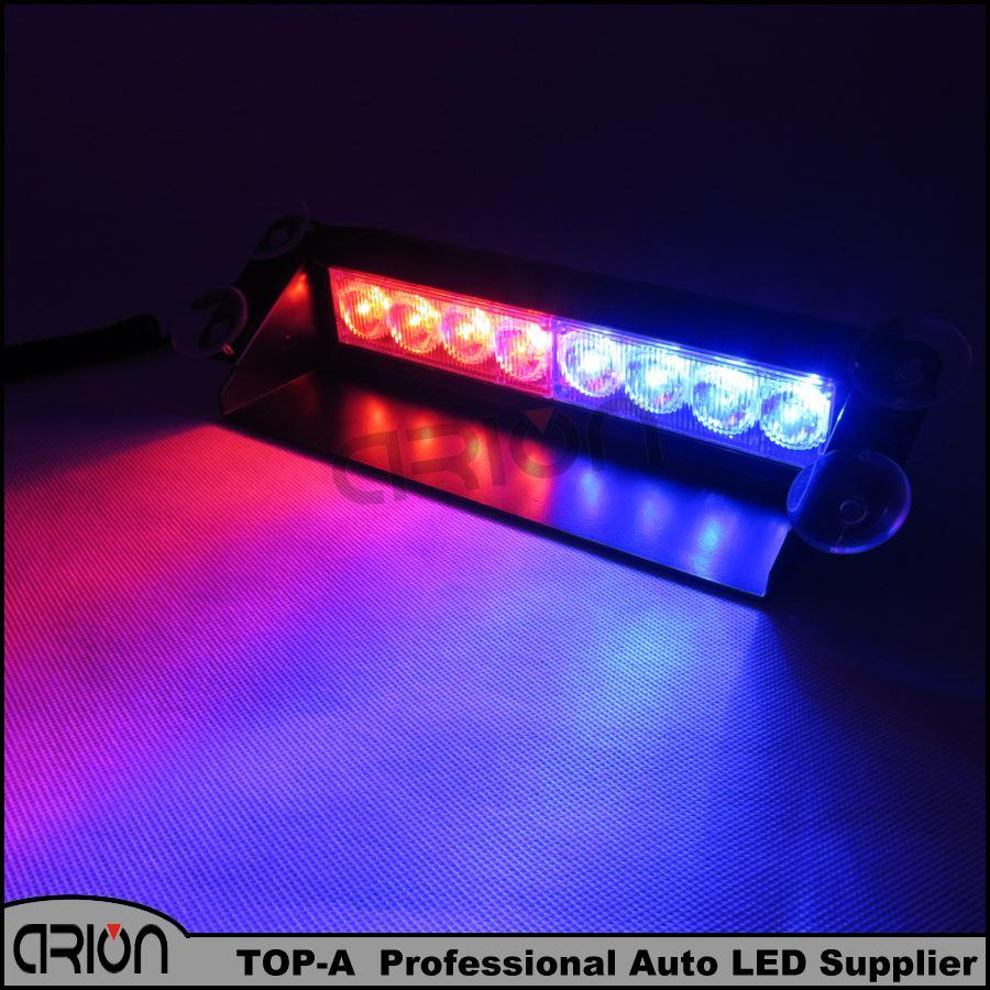 Police Led Lights >> 8 Led Strobe Flash Warning Ems Police Car Light Flashing Firemen Fog