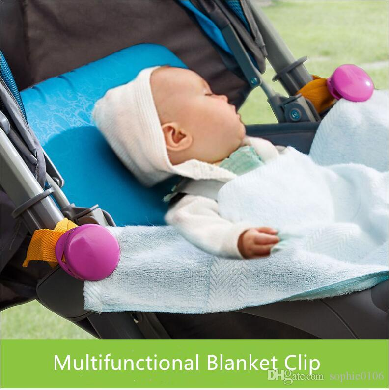 طفل متعدد الوظائف بطانية كليب عربة كليب الرضع بنات بنين سرير عربة بطانية كليب