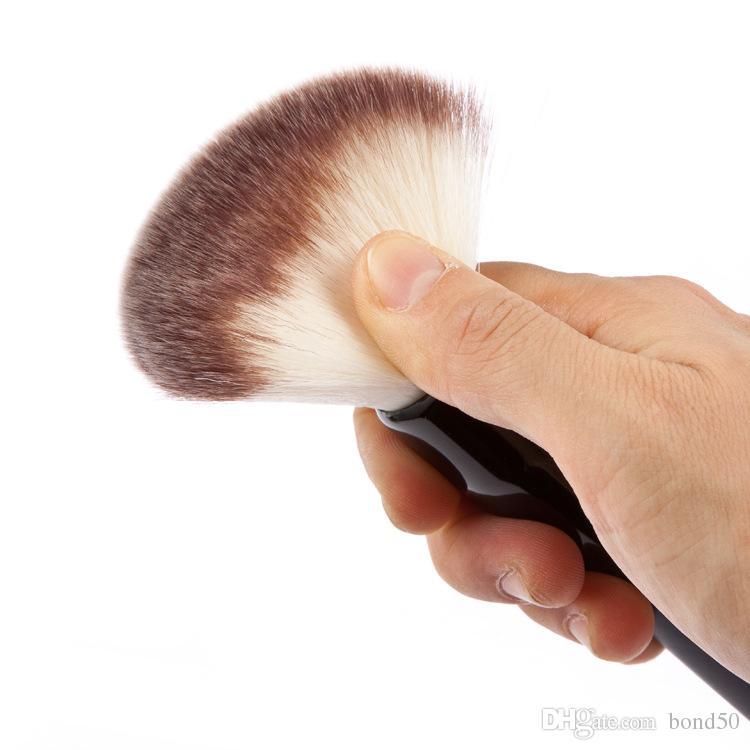 Huamianli marka süper yumuşak makyaj fırça seti siyah ahşap saplı sentetik likit fondöten makyaj fırçalar yüz pudra kozmetik 60 adet hs014