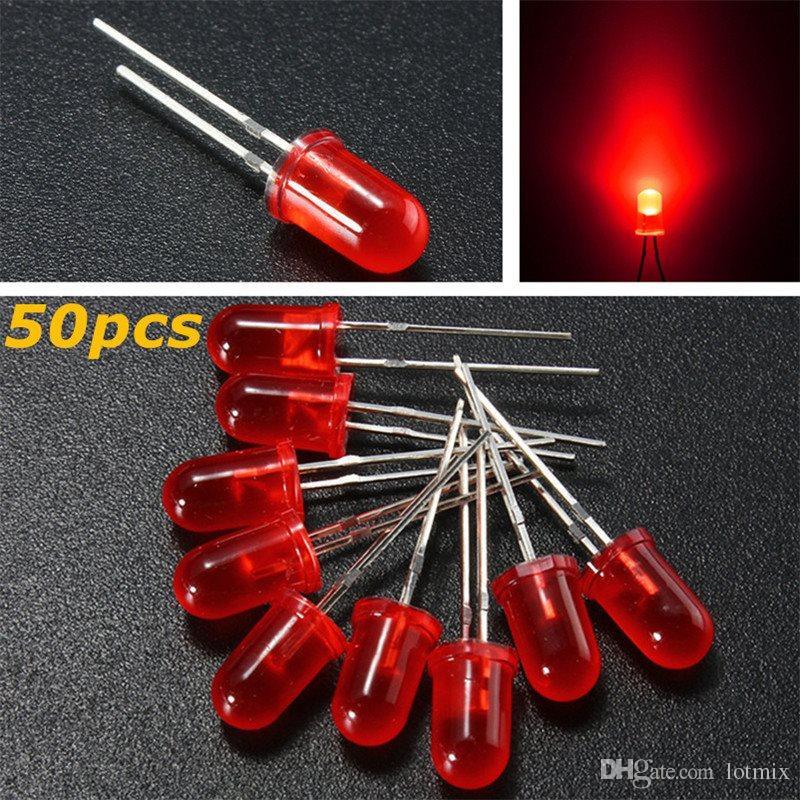 높은 품질 5mm 라운드 상위 색상 확산 LED 빛 방출 다이오드 램프 모듬 된 키트 세트 빨강 / 녹색 / 파랑 / 노랑 / 흰색
