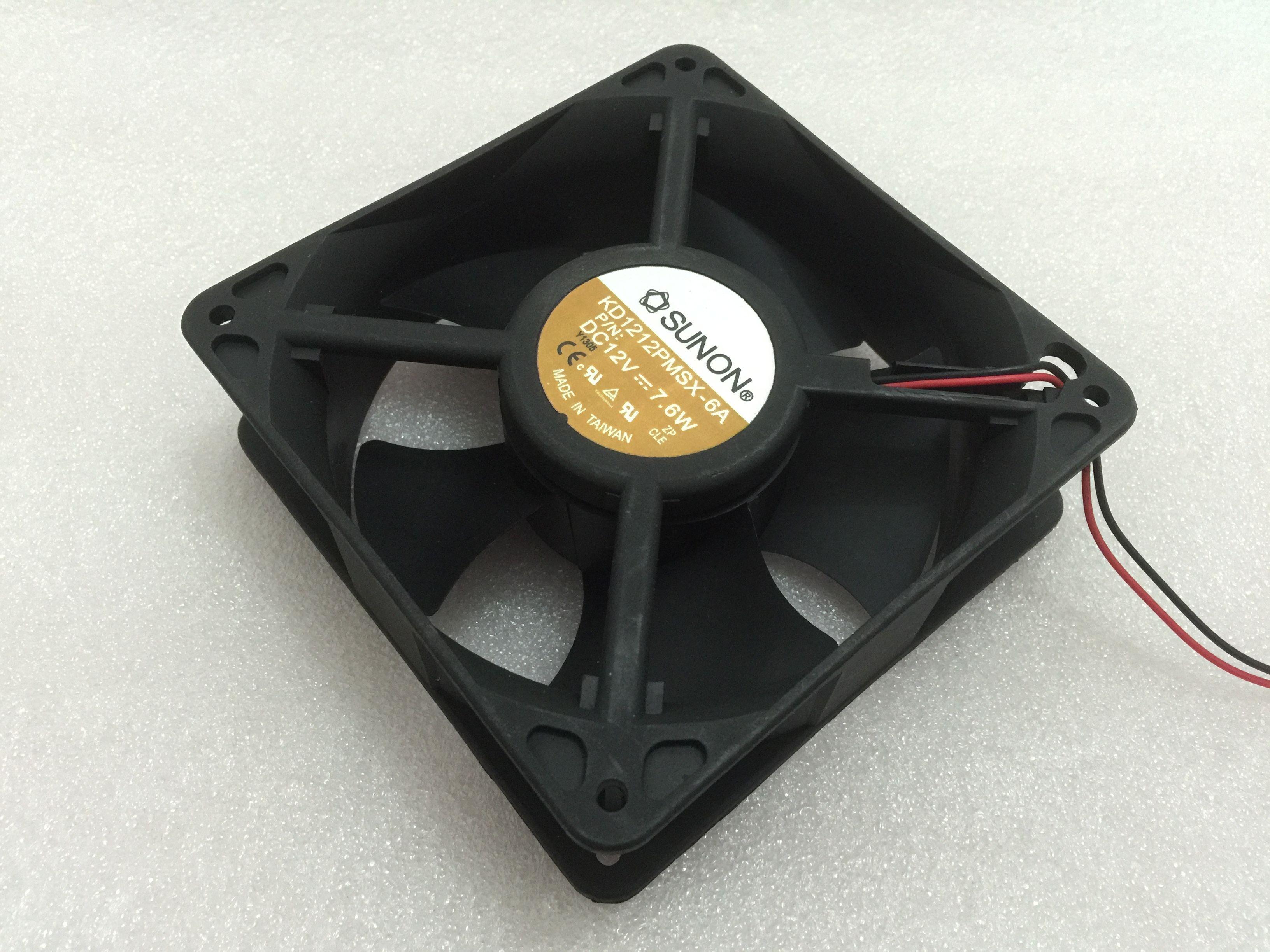 Frete Grátis Para A SUNÃO KD1212PMSX-6A DC 12 V 7.6 W 2-fio conector de 2 Pinos 70mm 120x120x38mm Servidor Quadrado Ventilador de refrigeração