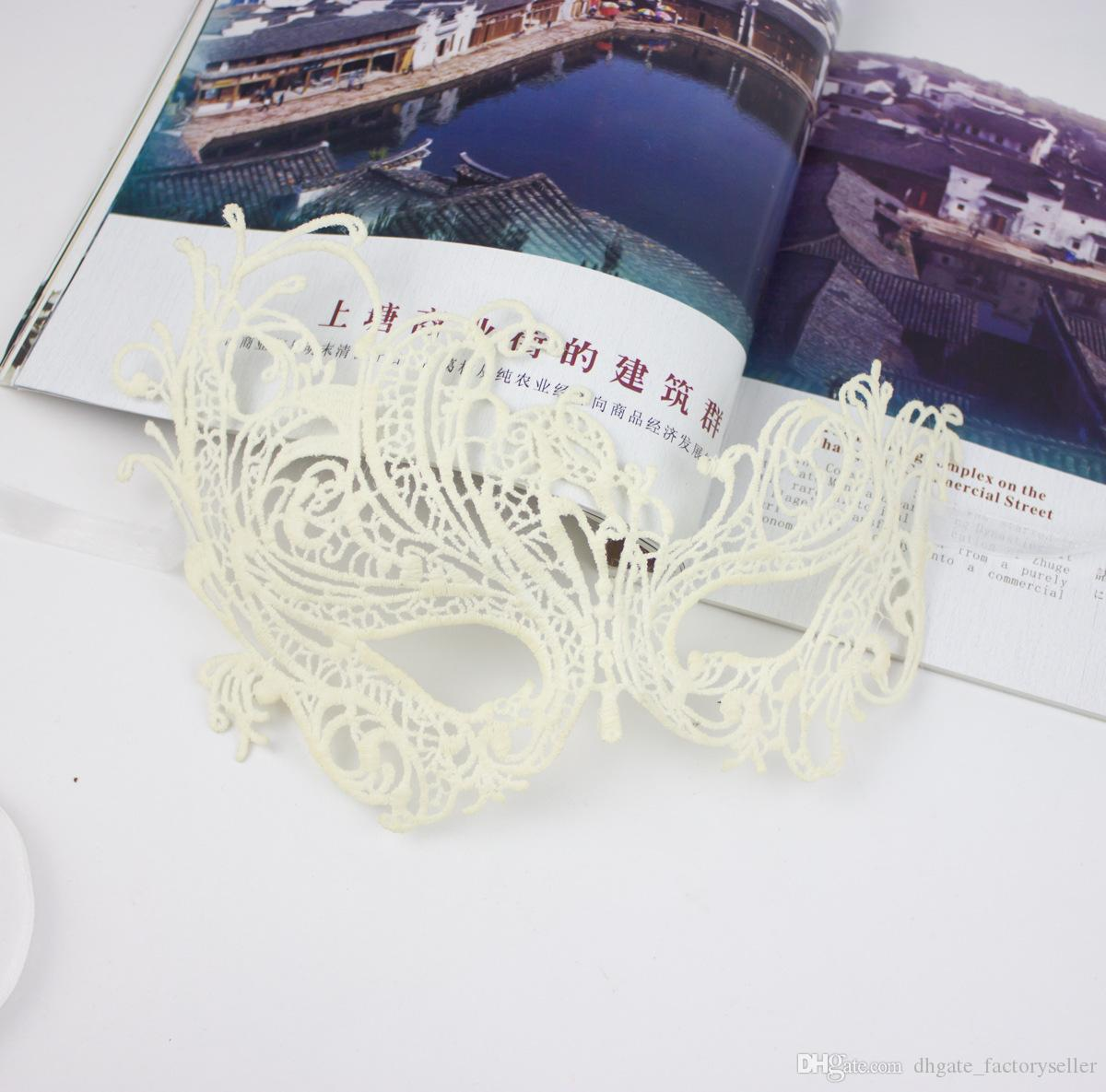 Sexy Mysterious Women's Black Lace Eye Mask For Masquerade Party Prom Ball Halloween Fancy Dress Party