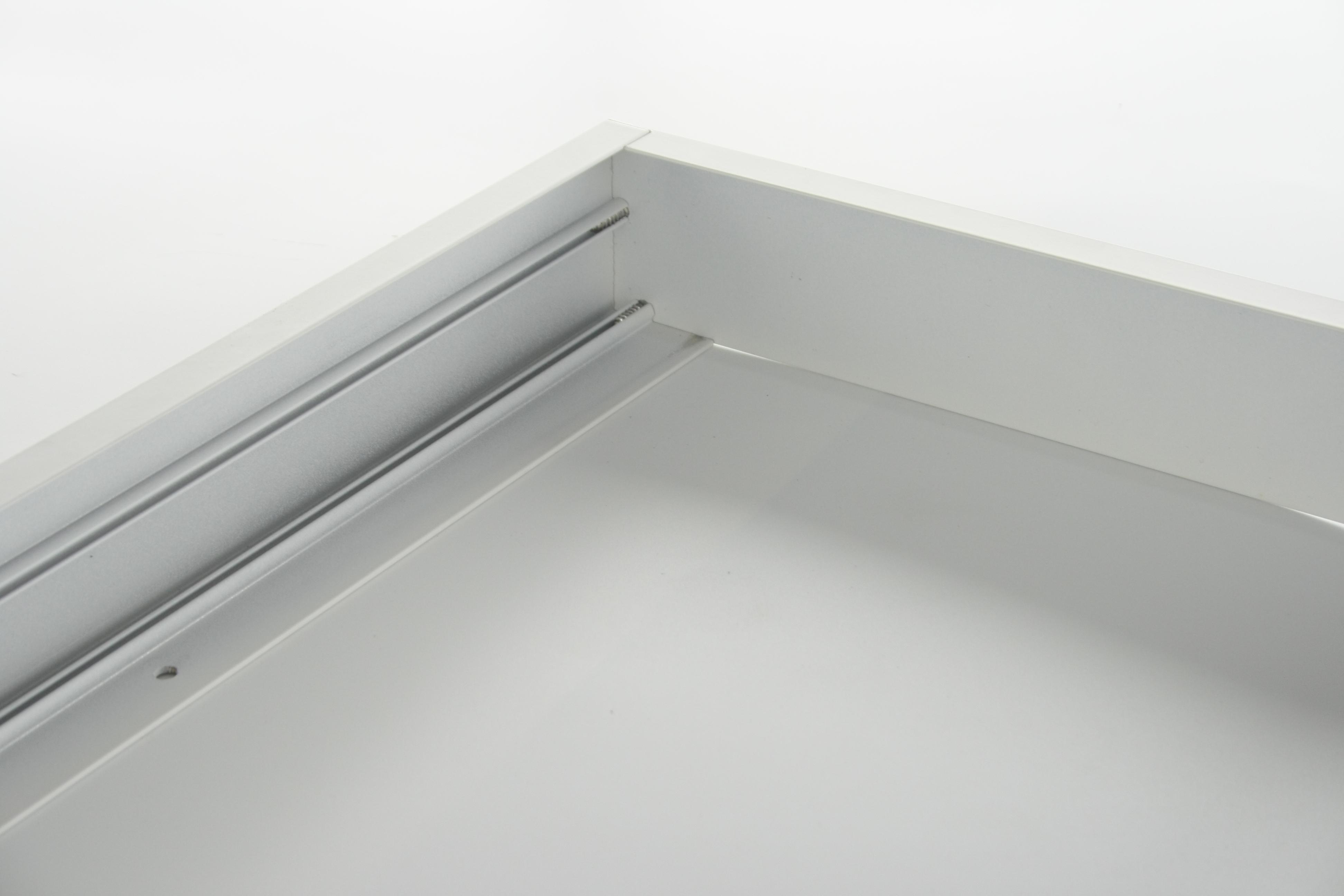 Livraison Gratuite Surface Montée Cadre Cadre 300x1200X50mm en aluminium matériau super mince conception blanc couleur argent est disponible