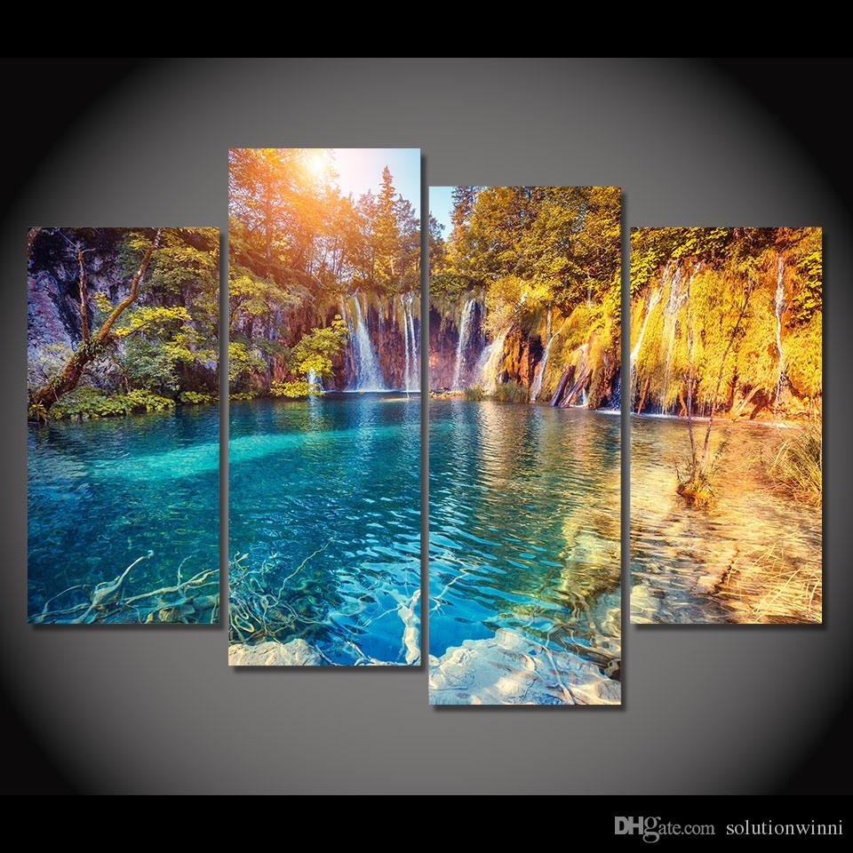 2017 Canvas Painting Clear Pool Nature Hd Printed Canvas