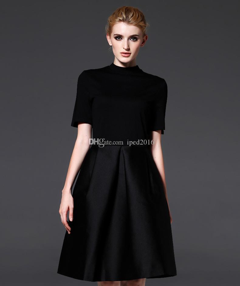 Schwarze Frauen Kleid Kleidung Sommer für Mutterschaft Kleid Frauen Kleidung O-Ansatz Kurzarm 4 Farben schlank Schwangerschaft Kleid tragen