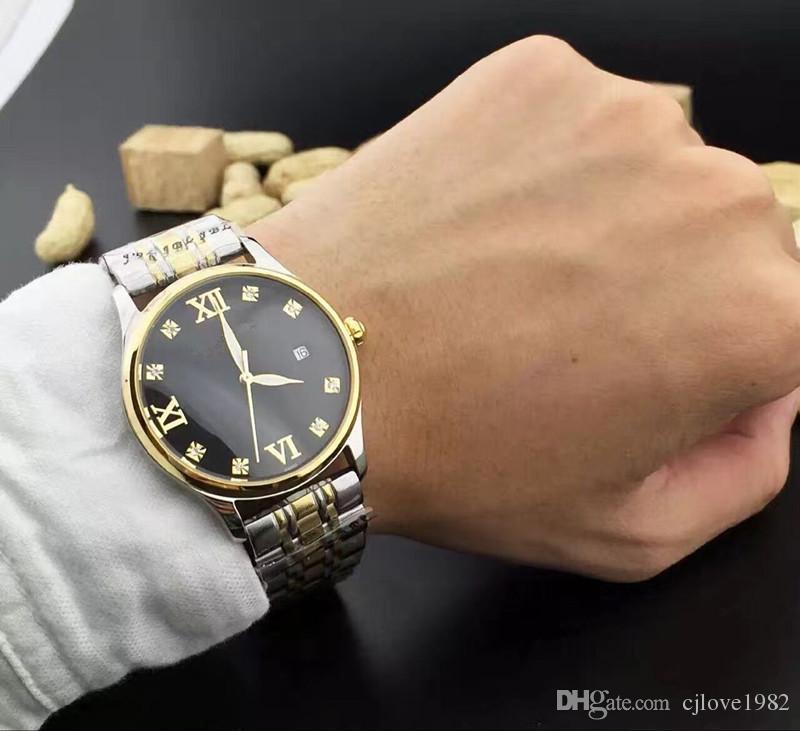 Yüksek kalite moda klasik erkek bilek giyme ayna BDFL tarih otomatik mekanik hareket mineralleri gösterir