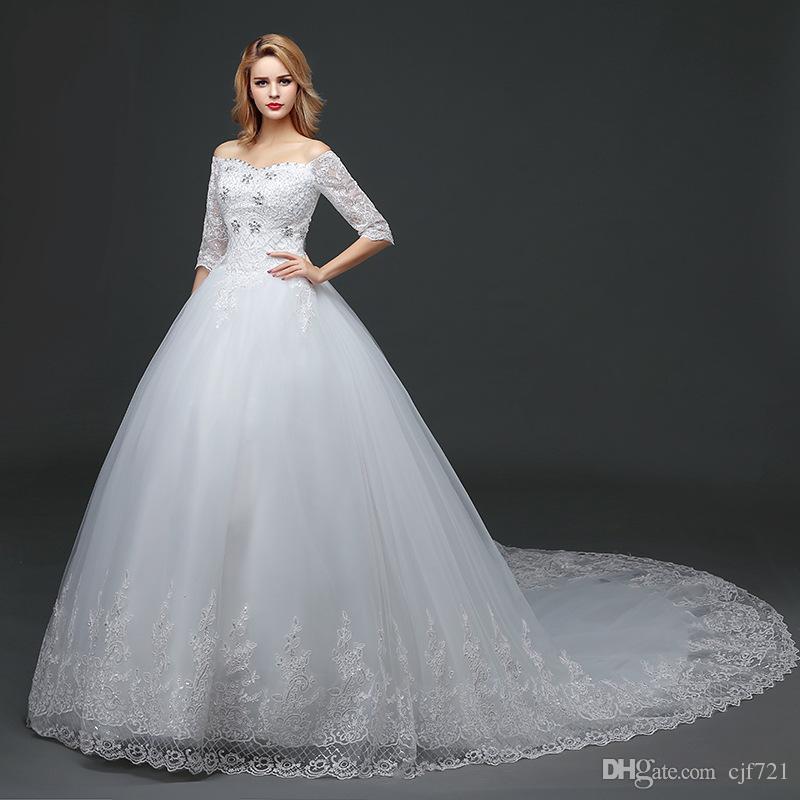 2017 New Arrival Mermaid Wedding Dresses Vintage Strapless Diamond ...