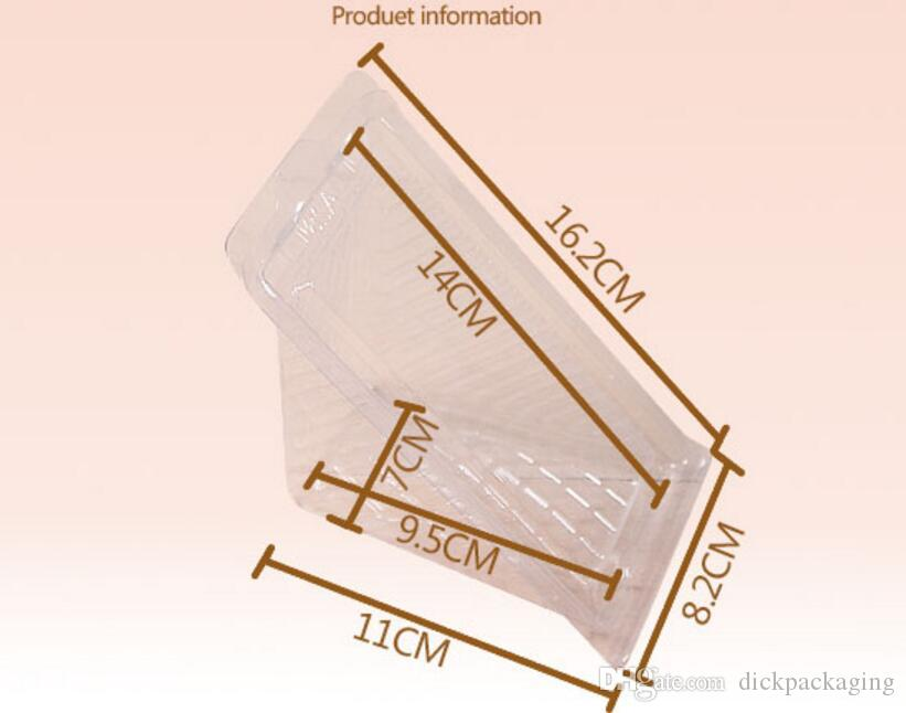 Spedizione gratuita blister sandwich packaging box trasparente cake box in plastica sandwich pasticceria