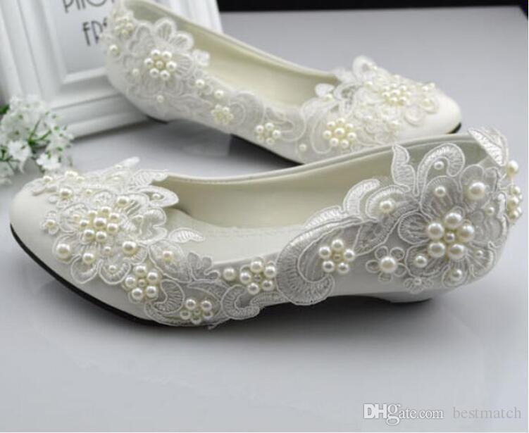Grosshandel Kleid Weiss Hochzeit Schuhe Prinzessin Crystal Pearl