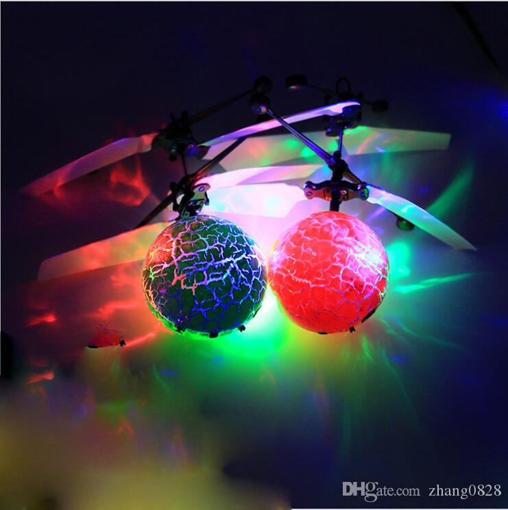 4 Style Hot Toy Epoch Air RC Flying Ball Drone Helicopter Ball Built-in Shinning LED Lighting for Kids Teenagers Colorful Flyings