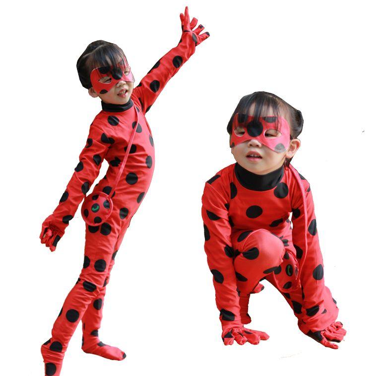 cosplay coccinelle film caractère fille fille adulte adulte animation costume de performance parent-enfant Halloween collants fille Reddy