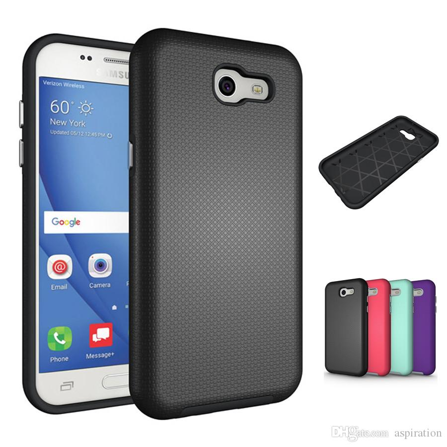 online store 133c9 79c3a Hybrid Dual Layer Armor Case Cover for Samsung Galaxy J5 J7 Prime ON5 ON7  J3 Emerge 2016 2017 Tough Shockproof Back Protective Shell