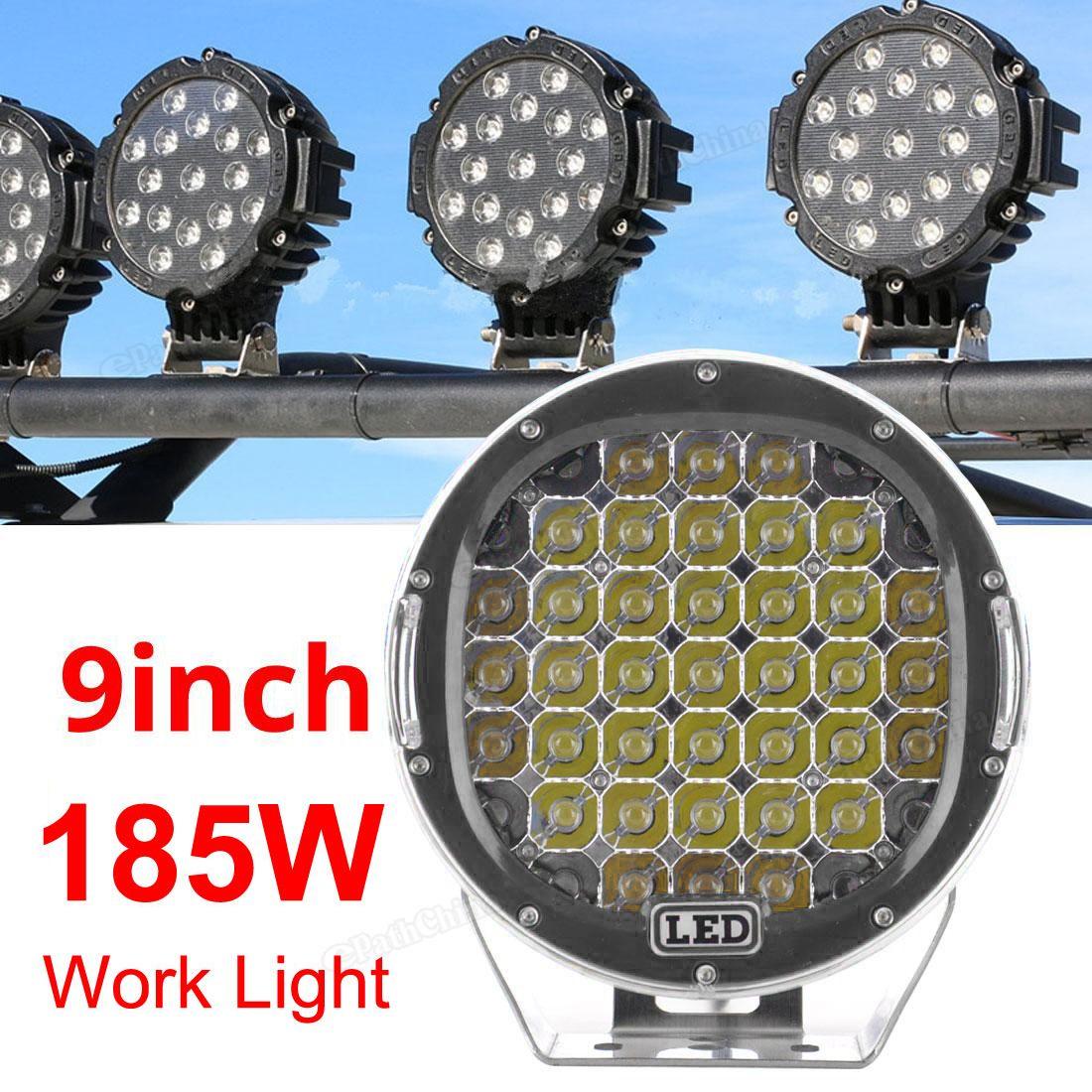 Lumiere 6000K acheter 9 pouces 185w 6000k travail feux de conduite spot / lumière
