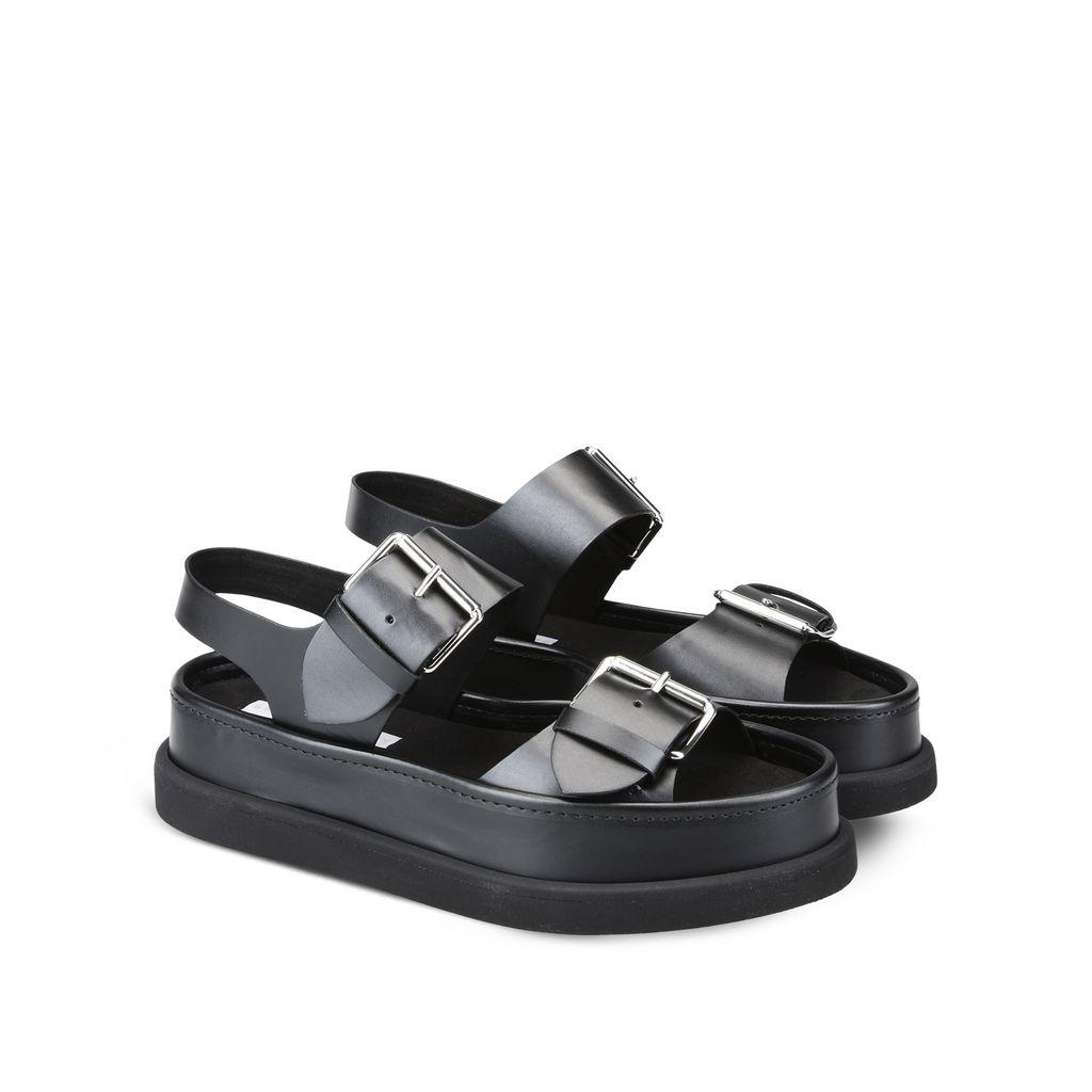 648500c8f943 Fashion Brand Buckle Sandals Women Shoes Genuien Leather Sexy Shoes Sandels  From Luischen