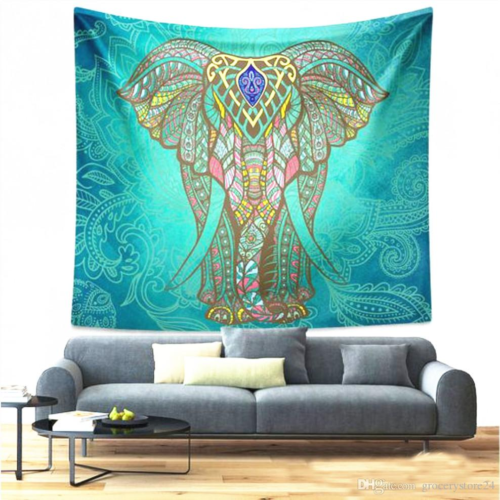 Mandala Bohemian Elephant Tapestry Wall Hanging Psychedelic Wall Art Dorm  Décor Beach Throw Indian Wall Tapestries Tie Dye Tapestries Tie Dye  Tapestry From ...