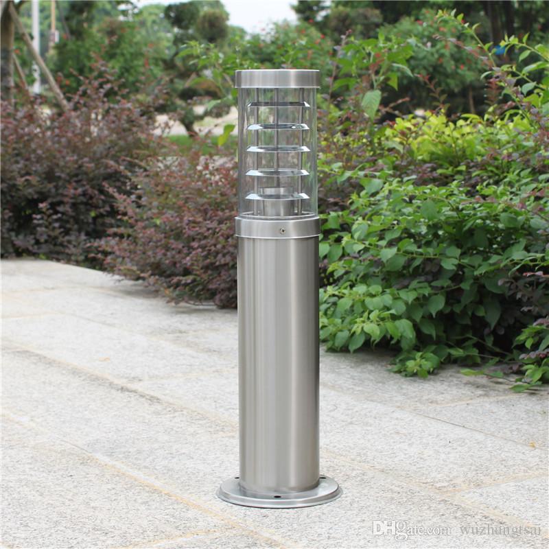 outdoor pole rod bollard light column post lamp LED modern stainless steel  waterproof outdoor lawn light lamp