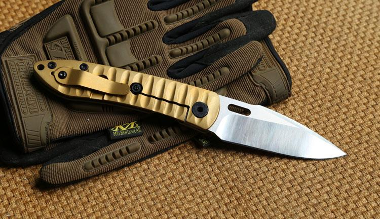 ST SMF Tactical Folding Knife S35VN blade Copper gaskets bearing G10 Titanium handle outdoor gear hunting camping survival Knives EDC tools