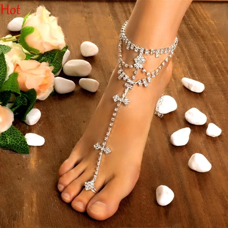 above bracelet photo female stock bracelets pool picture feet the ankle anklet with