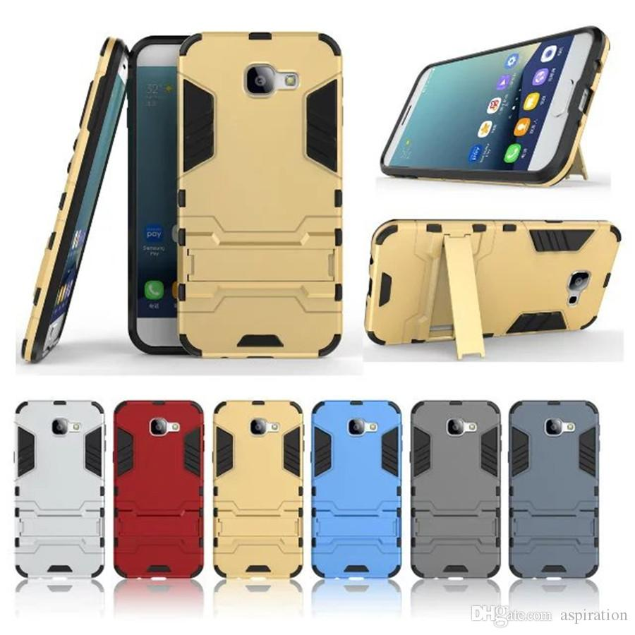 brand new 59824 ae0e5 Full Body Case for Samsung Galaxy A8 2016 Slim Fit Shock Absorption Rugged  Holster Hybrid Dual Layer Armor Protective Cover with kickstand