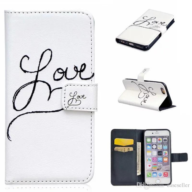 Blossom Fashion Flower Butterfly Wallet Leather Flip Cover Pouch Skin Case for iphone 7 plus 6S 5S SE S5 S6 edge