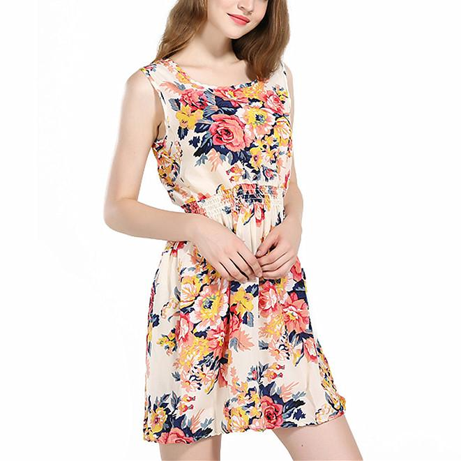 39756797cfed Summer Short Dresses For Plus Size Loose Mini Beach Floral Print Women Dress  Spring Plus Size S XXL Ladies Casual Dress H258 Short And Long Dresses  Evening ...