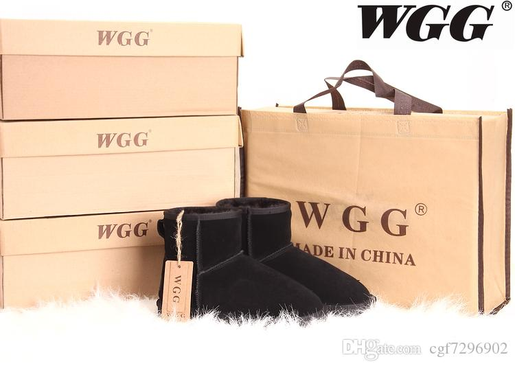 Yüksek Kalite 2015 yeni kadın Klasik uzun WGG tarzı kar botları Kış çizmeler Ile Sıcak kutu sertifikası toz torbası