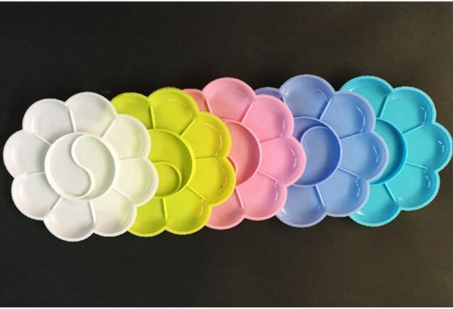 Palette en plastique 5 couleur Palette de peinture Art outils Matériel d'artisanat Peinture Fournitures 8 cm Dessin Jouets Maternelle Outils
