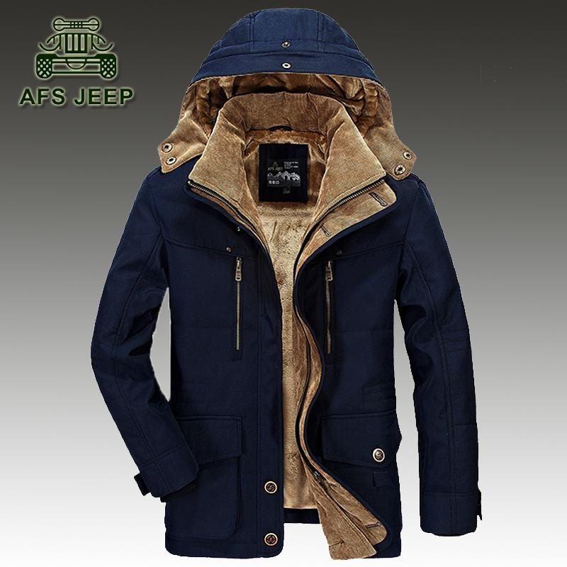 Winter Down Jackets Men Original Brand Afs Jeep Warm Thicken Coat ...
