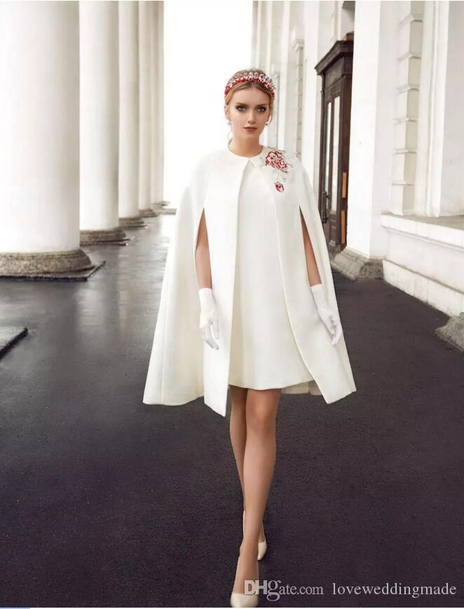 New Design White Short Formal Party Dresses 2017 With Jacket/Wrap ...