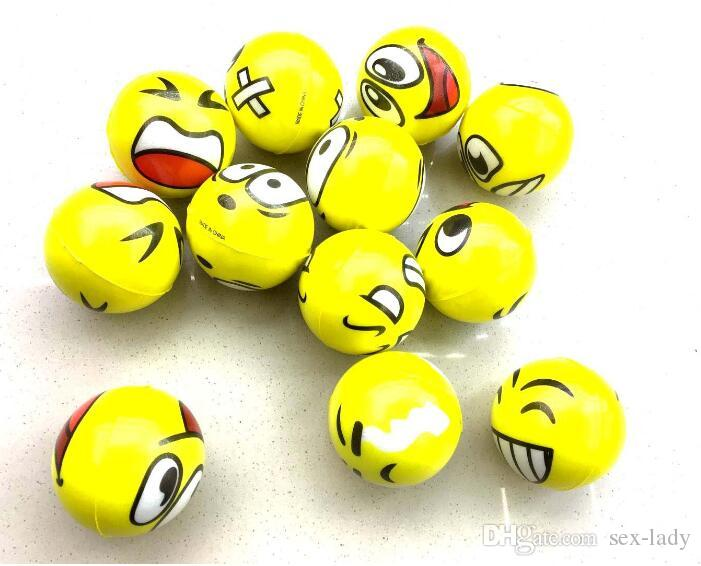 2017 Emoji Faces Squeeze Stress Ball Hand Wrist Finger Exercise Stress Relief Therapy - Assorted Styles New Christmas party gifts Pet Toys