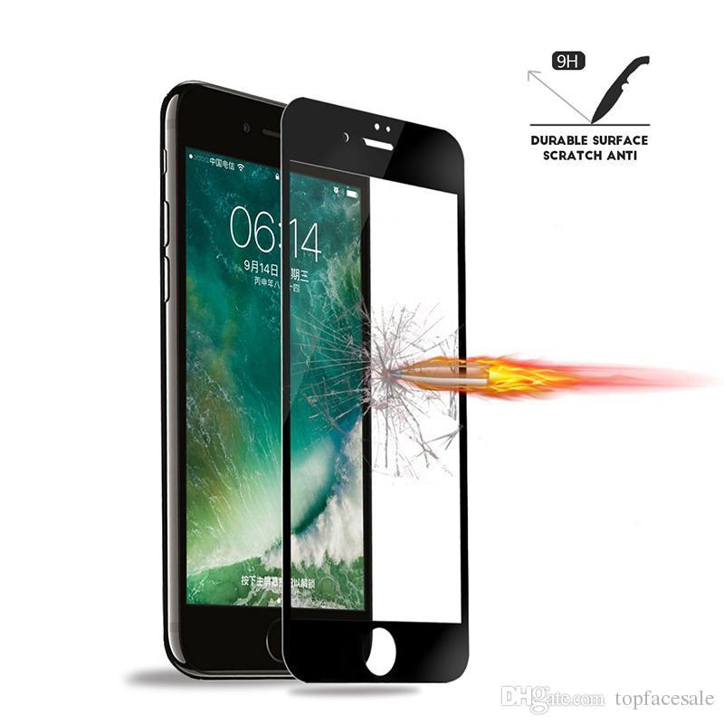 Voll Kleber Rand Rand Qualität Ausgeglichenes Glas 5D vollständige Abdeckung Displayschutzfolie Xs Xr X 8 7 6D für iPhone 11 pro max Vorder- und Rückseite