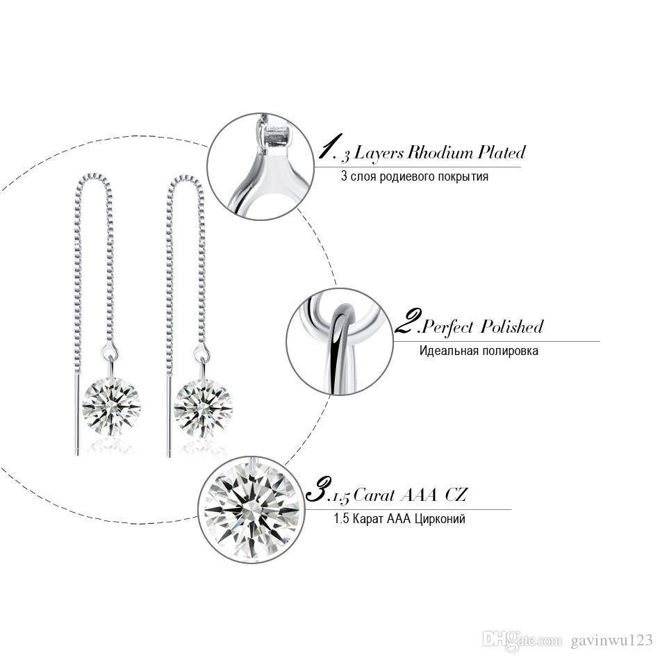 Orsa جواهر النساء انخفاض القرط مع أعلى greade واضح تشيكوسلوفاكيا الكمال جودة مصقول التعلق القرط مجوهرات OE04