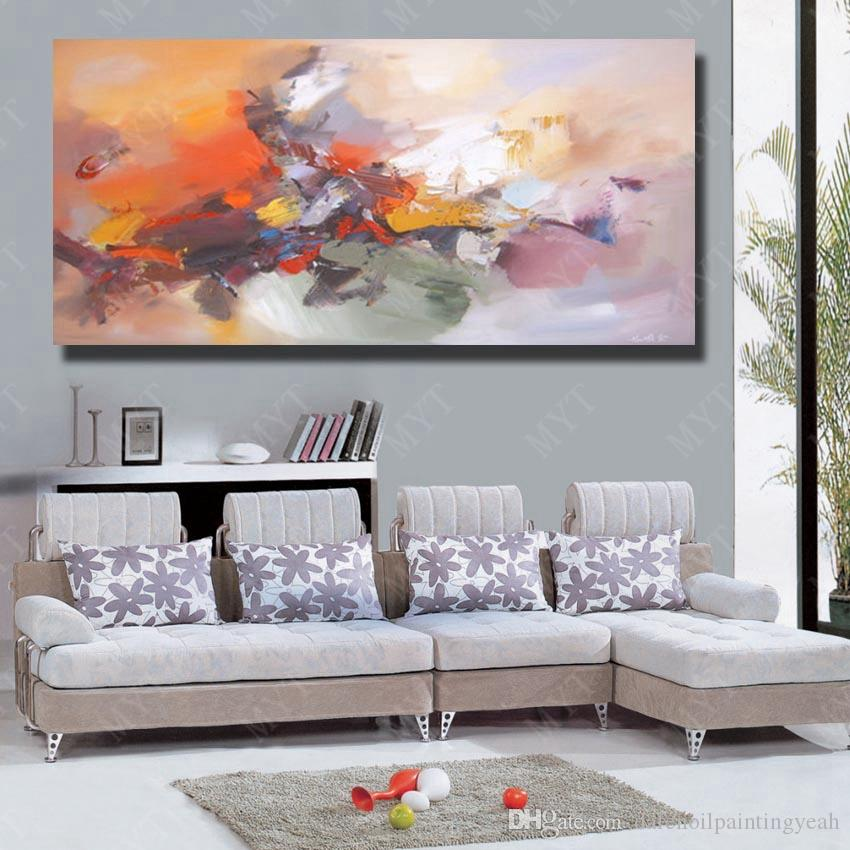 Abstract Modern Oil Painting Pictures for Living Room Wall Decor Hand Painted Chinese Oil Painting on Canvas No Framed