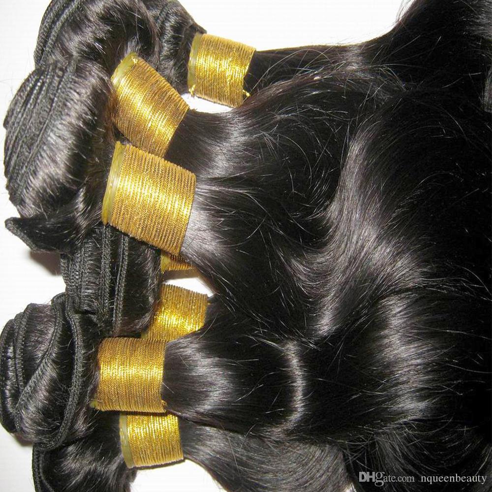 Las mujeres asiáticas sin procesar pelo de la onda del cuerpo de Malasia del pelo humano tejer 3 lotes / lote 300g precio de salida de fábrica Enredo libre