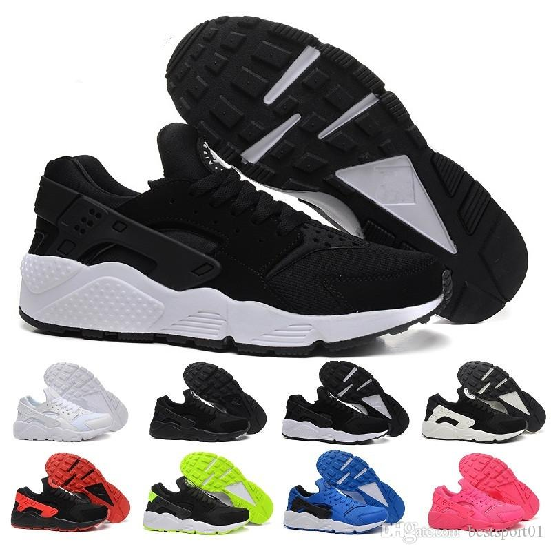 purchase cheap d4af0 284a0 Acquista 2017 Nike Air Huarache Scarpe Ultra Casual Triple Bianco Nero  Huraches Scarpe Da Ginnastica Da Uomo Donna All aperto Scarpe Da Ginnastica  Huaraches ...