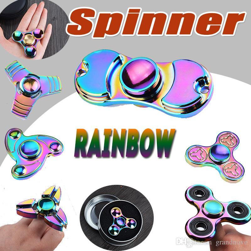 Rainbow Fid Spinner Colorful Edc Gyro Toys Hand Spinner Fid