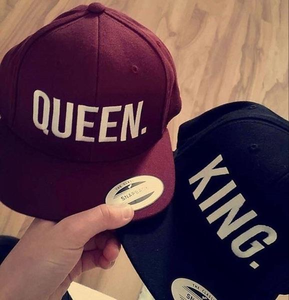 QUEEN KING Snapback Hat Men Women Couple Baseball Cap Gifts Lovers Cap Hip  Hop Sport Hats Fashion Hot Sale Black Red Wine Caps Hats For Men Hatland  From ... cb67432215e