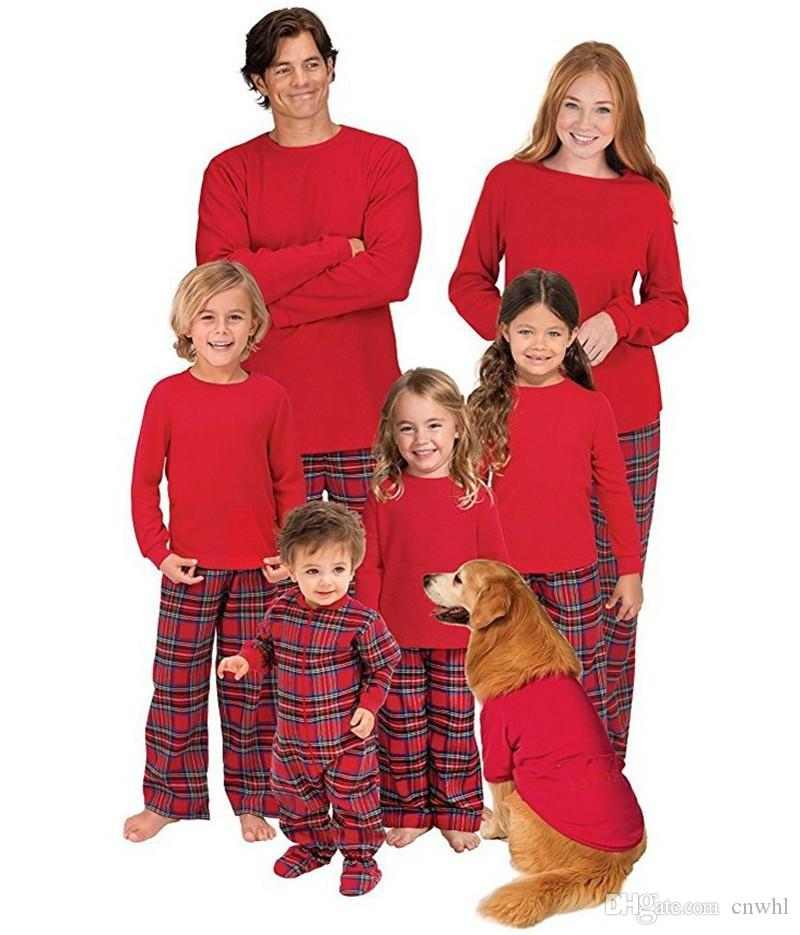 a9cce49847 2018 New Year Family Matching Christmas Pajamas PJs Sets Kids Adult Xmas  Sleepwear Nightwear Clothing Set Matching Outfits For Mommy And Daughter  Creepy ...