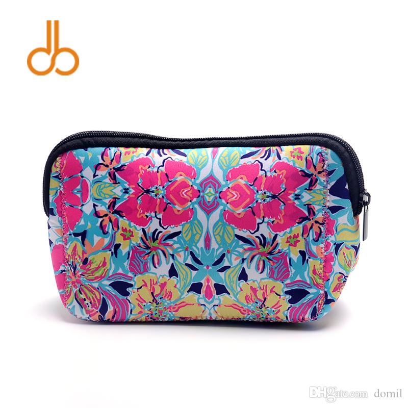 2f50abdabe Lilly Triangle Cosmetic Bag Wholesale Blanks Crown Neoprene Makeup ...