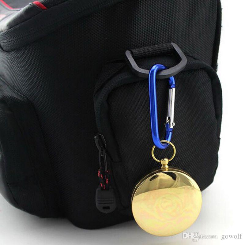 Hot Sale Outdoor Hiking Camping Tool Classic Brass Pocket Watch Style Camping Compass Hiking 48mm Diameter Retail Box