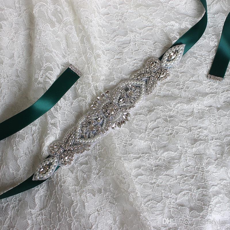 Cintura da sposa di lusso con strass Abito da sposa Accessori da sposa Cintura Bianco Avorio Fard Nero Rosso Argento Fusciacche da sposa Pronto la spedizione