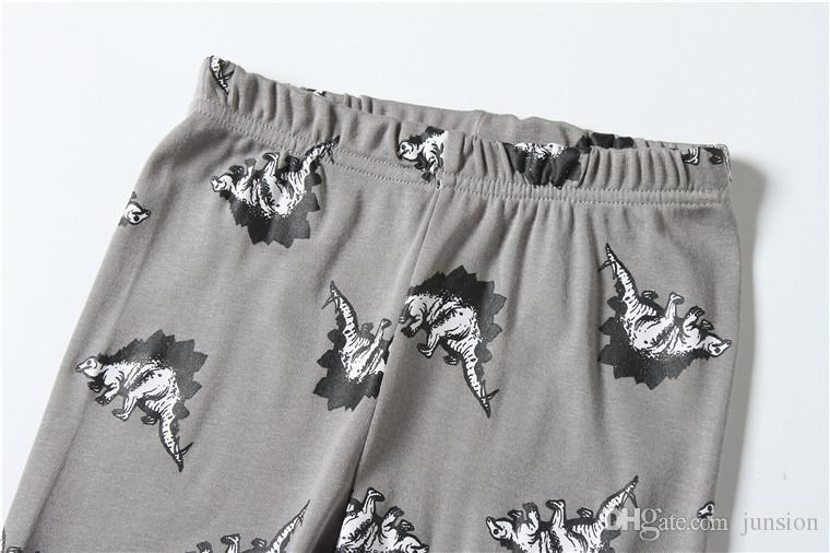 طفل بنين بنات البيجامة الكورية ماركة القطن طويل الأكمام الملابس 2 قطع الكرتون الدعاوى النوم لطيف طفل ملابس المنزل ل chrildren 2017