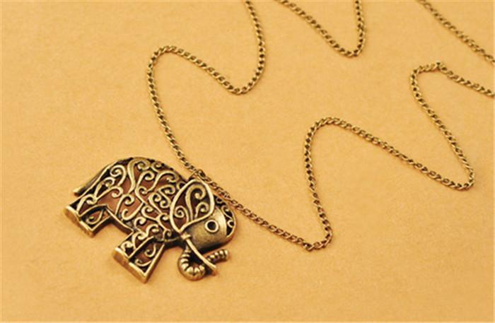 Neue Art und Weise heiße verkaufende glückliche Weinlese-Retro- Elefant-Halsketten-Strickjackeketten-hängende Halsketten spezieller Entwurfs-Charme MY-124