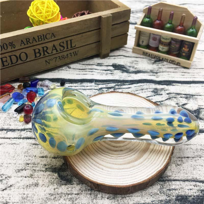 4.3 inch length Handmade conwenient new design cheap price hand pipes glass pile for smoking