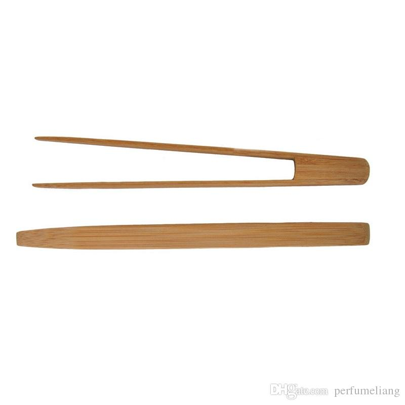 "9.6""inch Bamboo Kitchen Tongs BBQ Clip Salad Bread Serving Tongs Clip Food Cooking Tool Kitchen Gadgets Wholesale ZA3451"