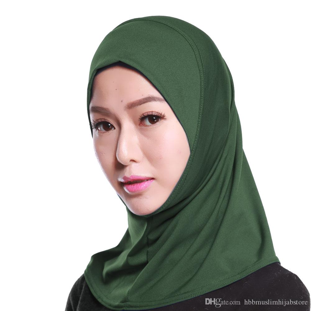 High Quality Muslim Women Mini Hijabs One Piece Khimar Amira Slip Scarf  Abaya Islamic Women Headwear Scarves For Men Mens Scarf From  Hbbmuslimhijabstore e42c15cf6e5